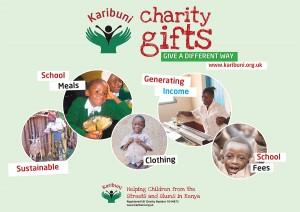 Karibuni charity gifts flyer